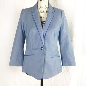 The Limited Blue Patterned Blazer